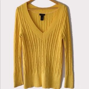 Lane Bryant Cable V-Neck Sweater